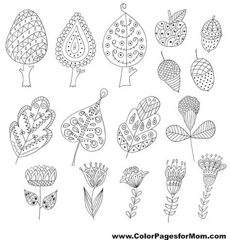 leaves coloring pages for adults leaves 2 advanced coloring page
