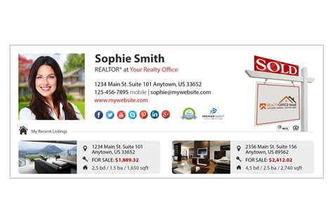 Real Estate Email Signature 12 Real Estate Email Signature Template 12 Real Estate Email Signature Templates