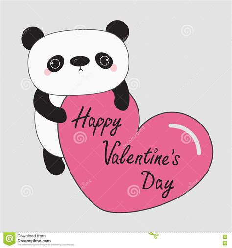 baby valentines day kawaii panda baby happy valentines day