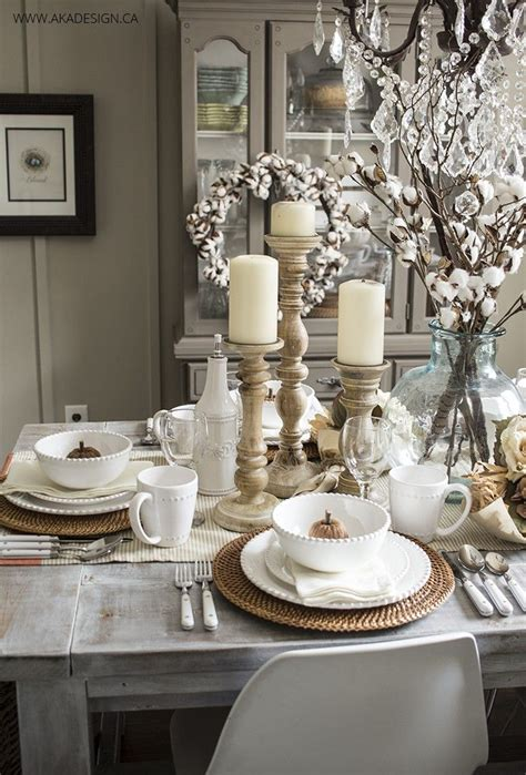Dining Table Settings Decorations by 1000 Ideas About Dining Table Decorations On