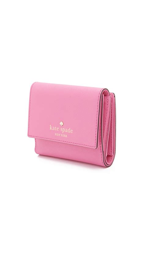 Kate Spade Wallet lyst kate spade new york tavy small wallet in pink