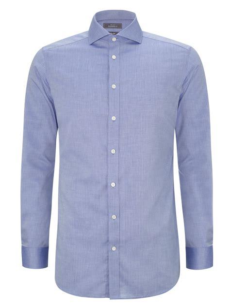 Shirt Pattern John Lewis | john lewis tailored fit dobby noniron shirt in blue for