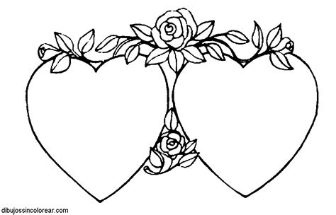 imagenes de corazones sin color dibujos de corazones para colorear