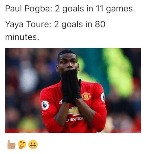 paul pogba needed those goals paul pogba 2 goals in 11 games yaya toure 2 goals in 80