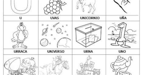 imagenes y palabras con x laminas con dibujos para aprender palabras y colorear con