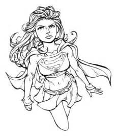 dibujos de supergirl para colorear pintar e imprimir gratis