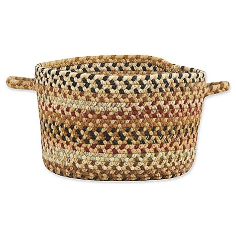 bed bath and beyond bangor buy capel rugs bangor small braided basket in beige from bed bath beyond