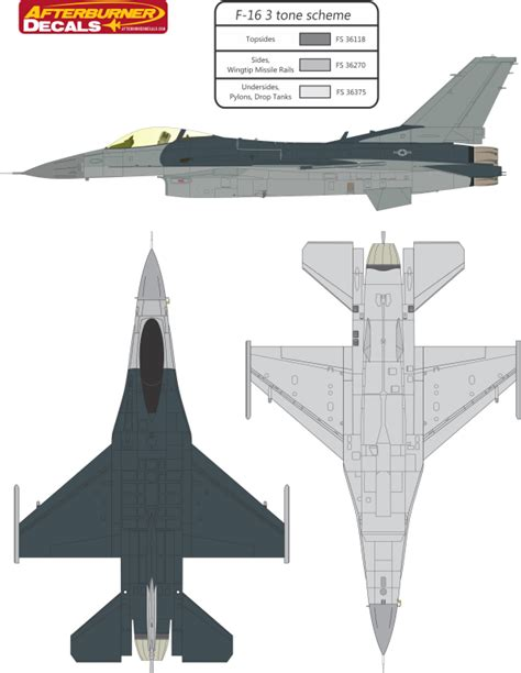 Colour Match Paint by General Dynamics F 16 Fighting Falcon Usaf Three Color