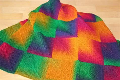 Decke Aus Quadraten Stricken by Decke Stricken Bunte Quadrate Tolles Muster