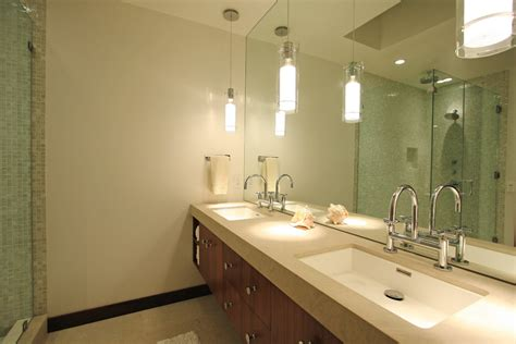 Modern Bathroom Pendant Lighting Impressive Pendant Lights Technique Los Angeles Contemporary Bathroom Decoration Ideas With