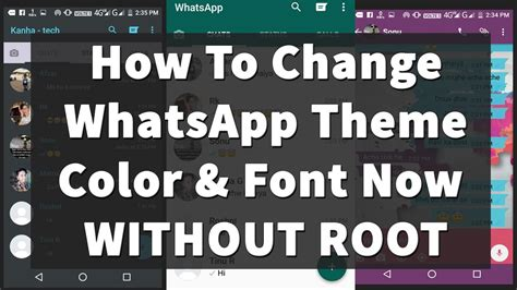 Whatsapp Themes And Fonts | how to change whatsapp theme colour font look in just