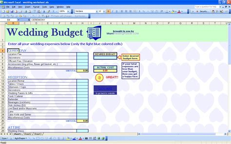 wedding budget template free wedding spreadsheet template wedding spreadsheet