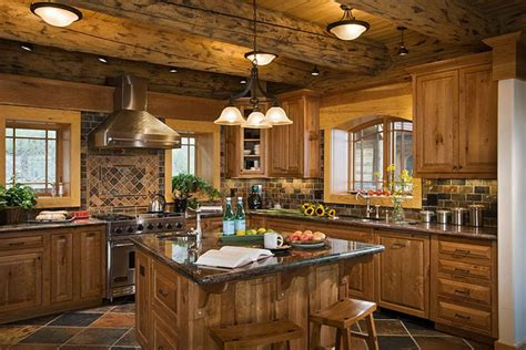 beautiful log home interiors pin sle kitchen layout on