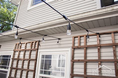 how to hang patio string lights fall patio fix up with string lights