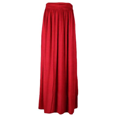 are maxi skirts appropriate for women over 50 new womens plain pleated fold over waist jersey gypsy long
