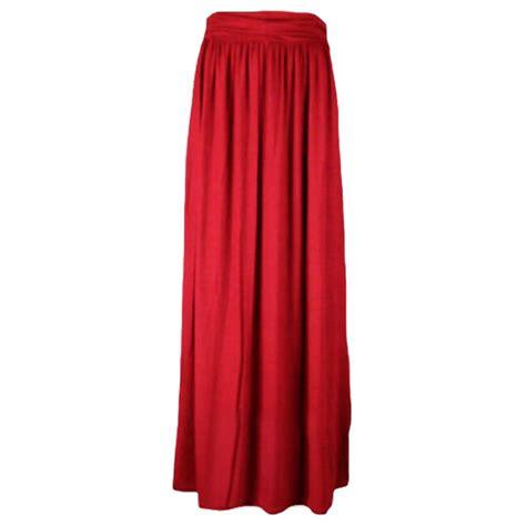 womens fold waist jersey maxi skirt sizes