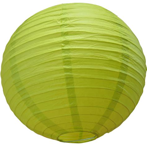How To Make Circle Paper Lanterns - 8 quot chartreuse paper lantern even ribbing hanging