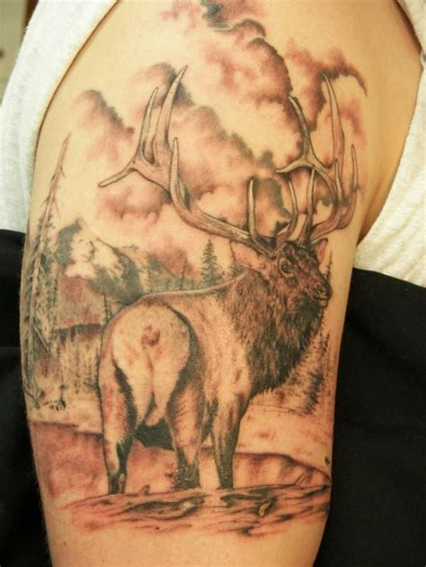elk antler tattoo designs elk i this bow shoots fishing