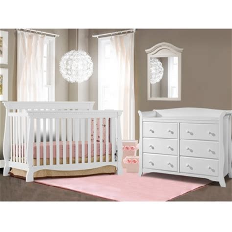 convertible crib and dresser set storkcraft 2 nursery set venetian convertible crib and avalon 6 drawer dresser in white