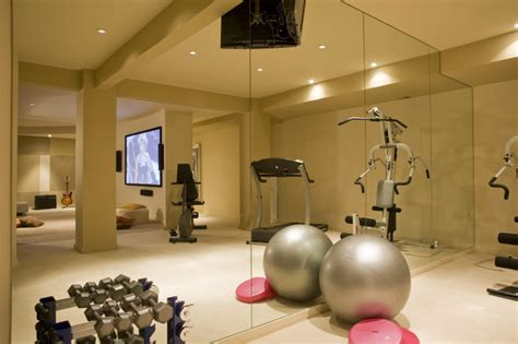 home fitness studio contemporary home