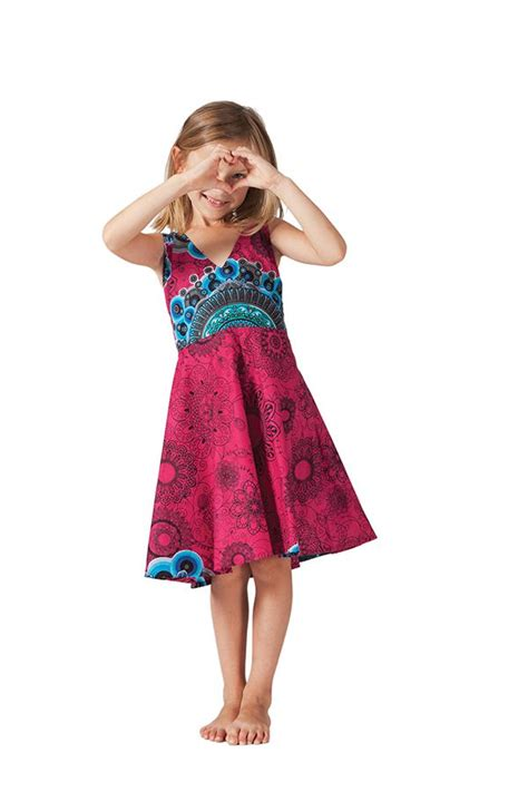 robe pour fille fuchsia ethnique et coupe patineuse scudy