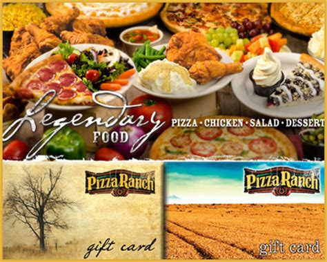 Pizza Ranch Gift Card - ten 5 gift cards to the pizza ranch for only 25 a 50