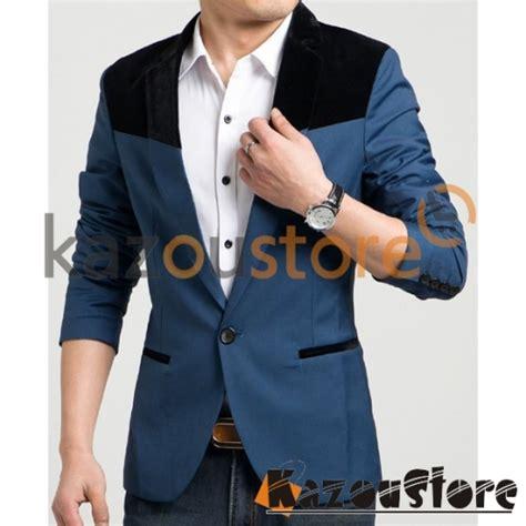 Promo Jas Pria Formal Kombinasi Maroon detil produk blazer pria casual njs107 kazoustore