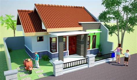 gambar desain atap rumah sederhana rumah minimalis sederhana atap miring gambar om