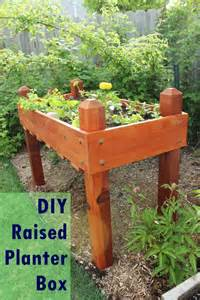 Elevated Planter Box by Diy Raised Planter Box A Step By Step Building Guide