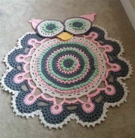 crochet rugs free patterns owl crochet rug pattern all the cutest ideas