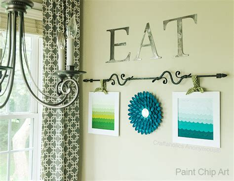 craftaholics anonymous paint chip art  ombre