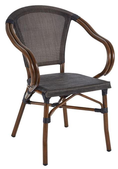 sedie in alluminio per esterni sedia in alluminio e textilene in stile quot bamboo quot idfdesign