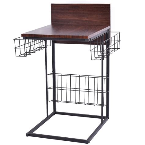 accent table with baskets sofa side table with storage baskets accent tables
