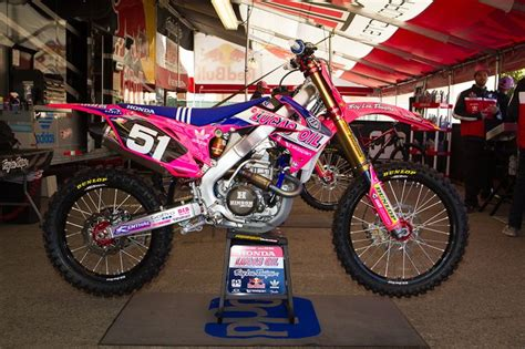 pink motocross bike 2012 honda troy design source http supercross com