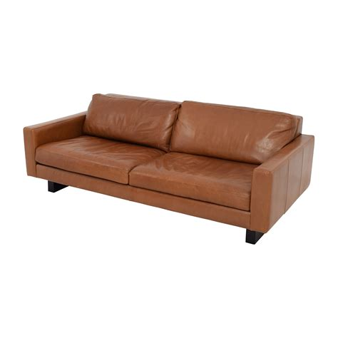 room and board leather sofa 66 off room board room board 79 quot hess leather sofa