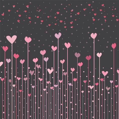 imagenes en fondo negro con frases fondo negro con corazones rosas para san valent 237 n