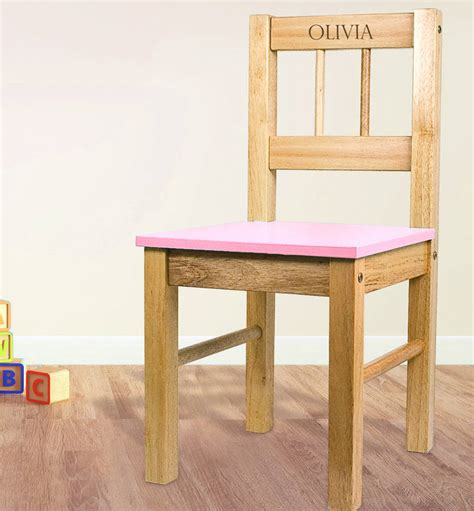 Childrens Wooden Chairs by Personalised Child S Wooden Chair By Letteroom