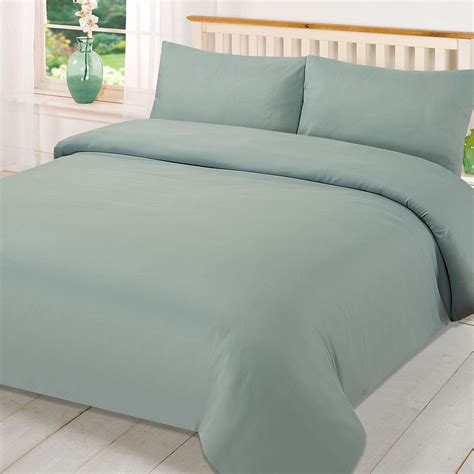 Plain Dye Bedding Sets Plain Dyed Duvet Cover Quilt Bedding Set With Pillowcase Single King Size Ebay