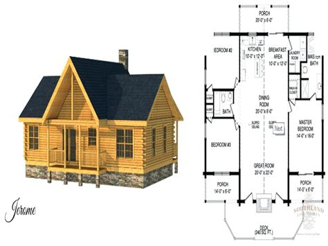 Cabin Plans With Basement | log cabin floor plans with walkout basement north carolina