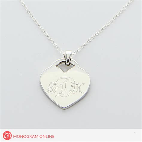 how to make engraved jewelry engraved monogram necklace in silver