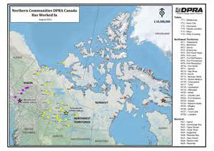 map of canada and northern us northern canada