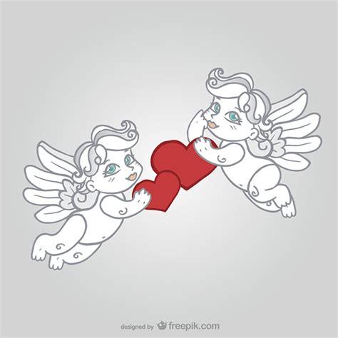 valentine s day cherubs vector free download
