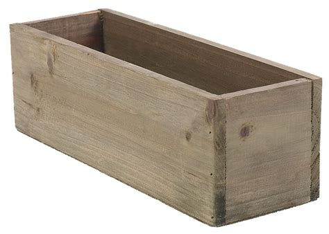 Plastic Liner For Planters by 11 75 Quot Rectangular Rustic Wood Planter With