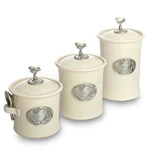 red glass canister sets kitchen cream colored kitchen canisters amazon com artisans domestic ceramic canister 3 piece