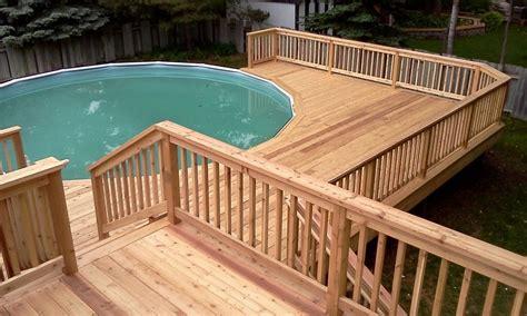 Pool Deck Plans by Multi Level Above Ground Pool Deck Design Plan Bath