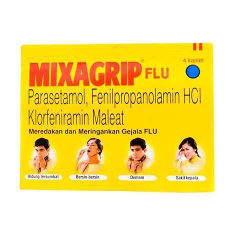 Calortusin Kaplet Obat Flu 1 jual mixagrip flu kaplet obat kesehatan 6 4 kaplet harga kualitas