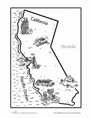 california coloring pages california worksheet education
