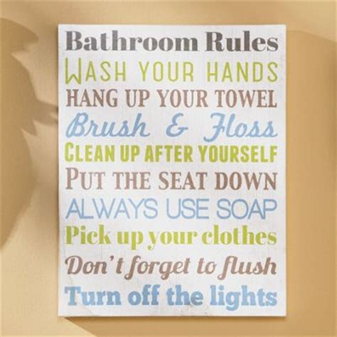 bathroom rules art bathroom rules wall art from seventh avenue db705801