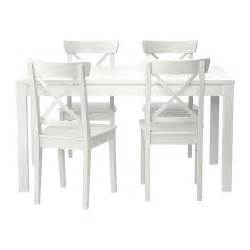 Ikea White Dining Table And Chairs Bjursta Ingolf Table And 4 Chairs Ikea