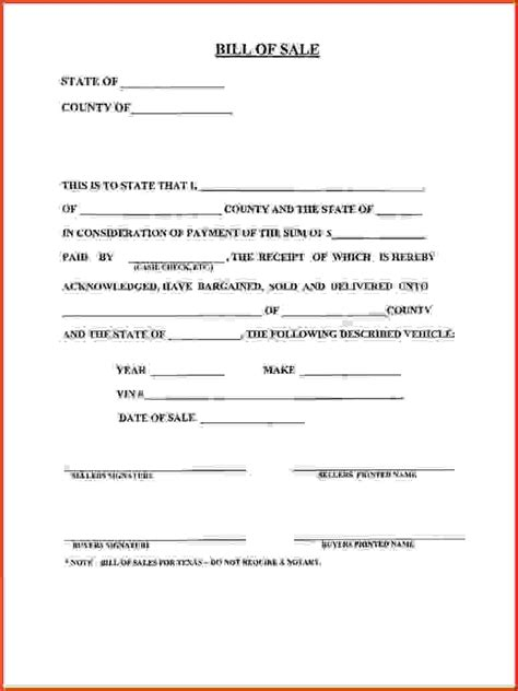 printable georgia vehicle bill of sale bill of sale form ga business form templates